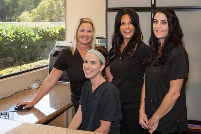 Image of the dental staff of Poway Dental Arts who provide patients who come for dental services exceptional customer service.